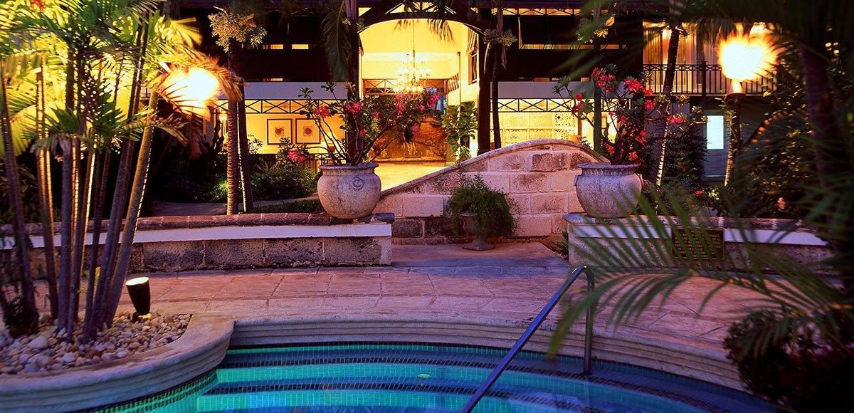 Pool looking towards reception
