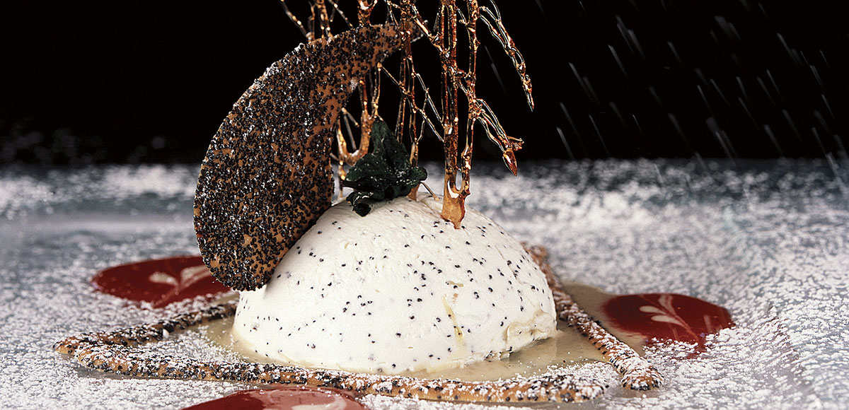 Iced Poppy Seed Parfait