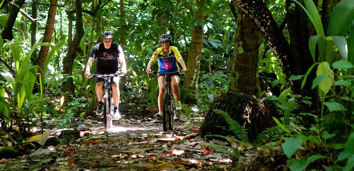 Mountain Biking at Anse Chasanet