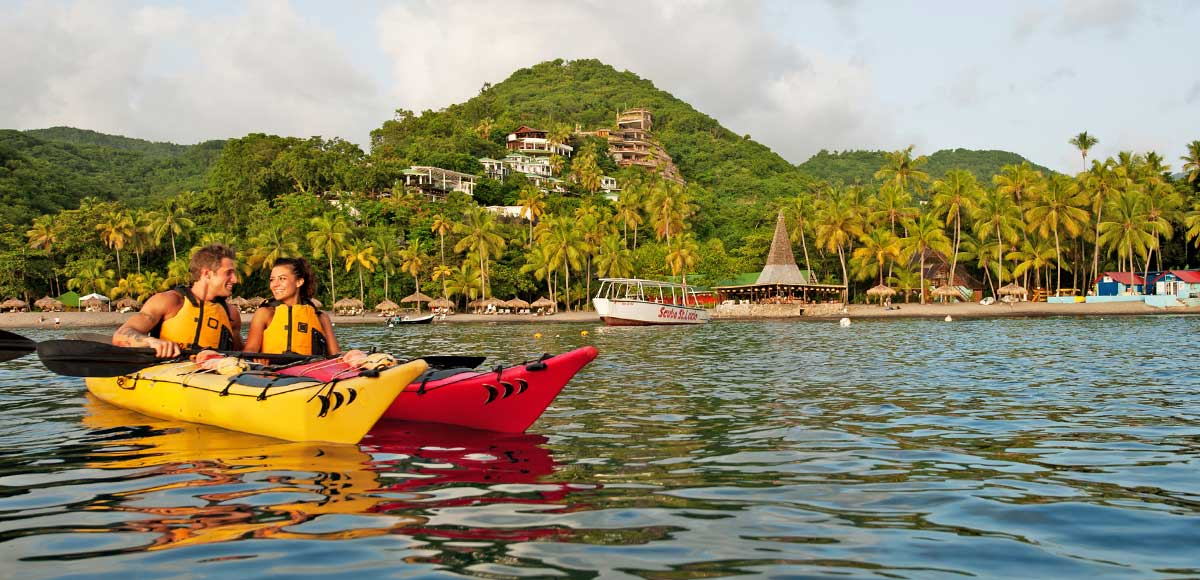 Ocean Kayaking at Anse Chastanet