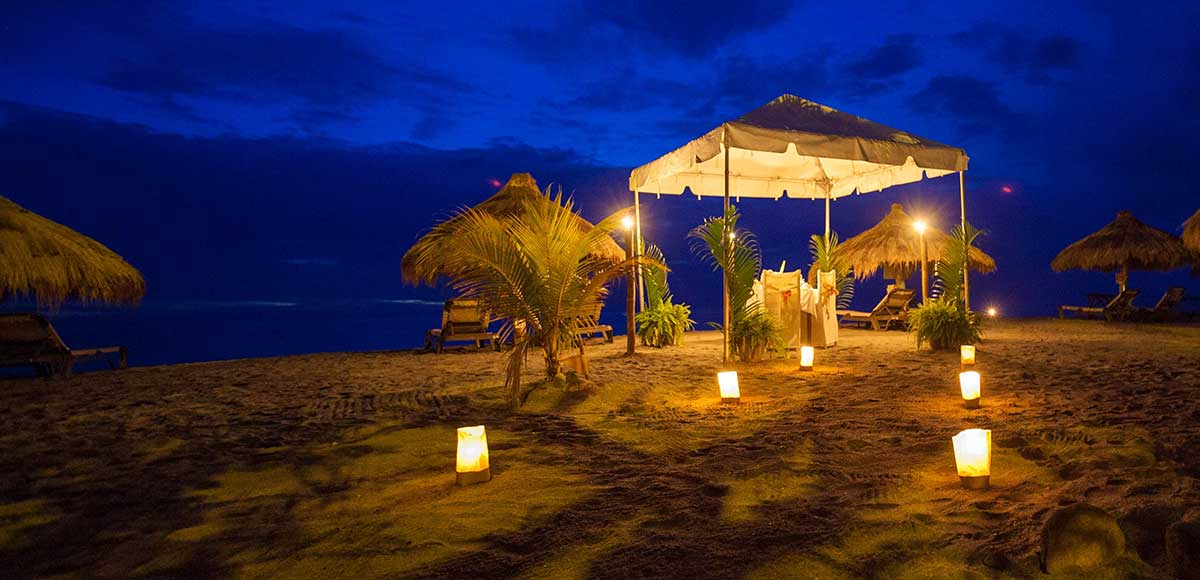 Beach Dining at Anse Chastanet