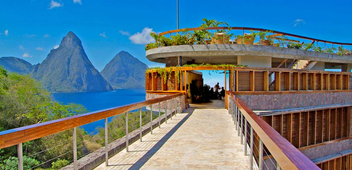 The Entrance To The Jade Mountain Club