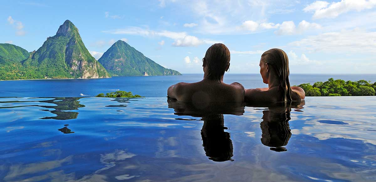 The Pitons From The Privacy Of Your Own Infinity Pool