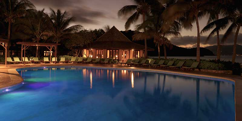 Ocean View Pool By Night
