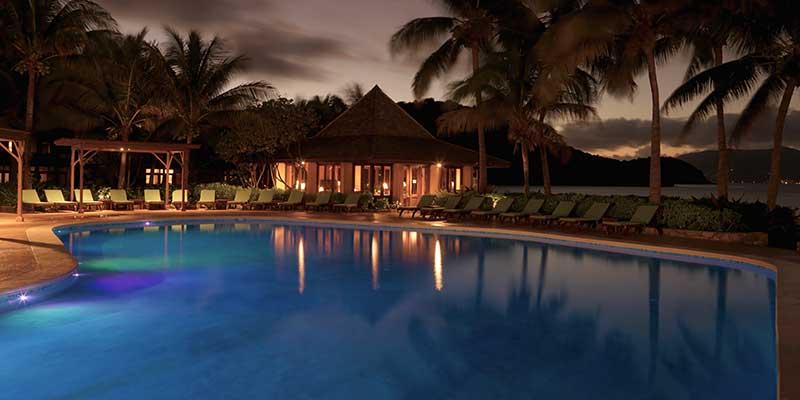 Ocean View Pool By Night