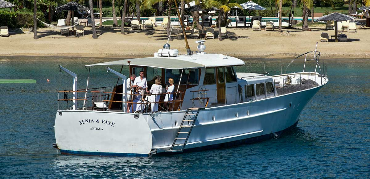 The yacht Xenia & Faye