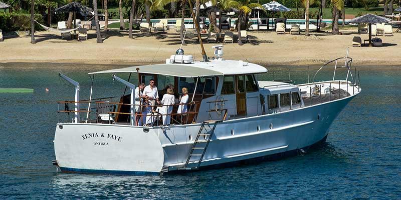 The yacht Xenia & Faye