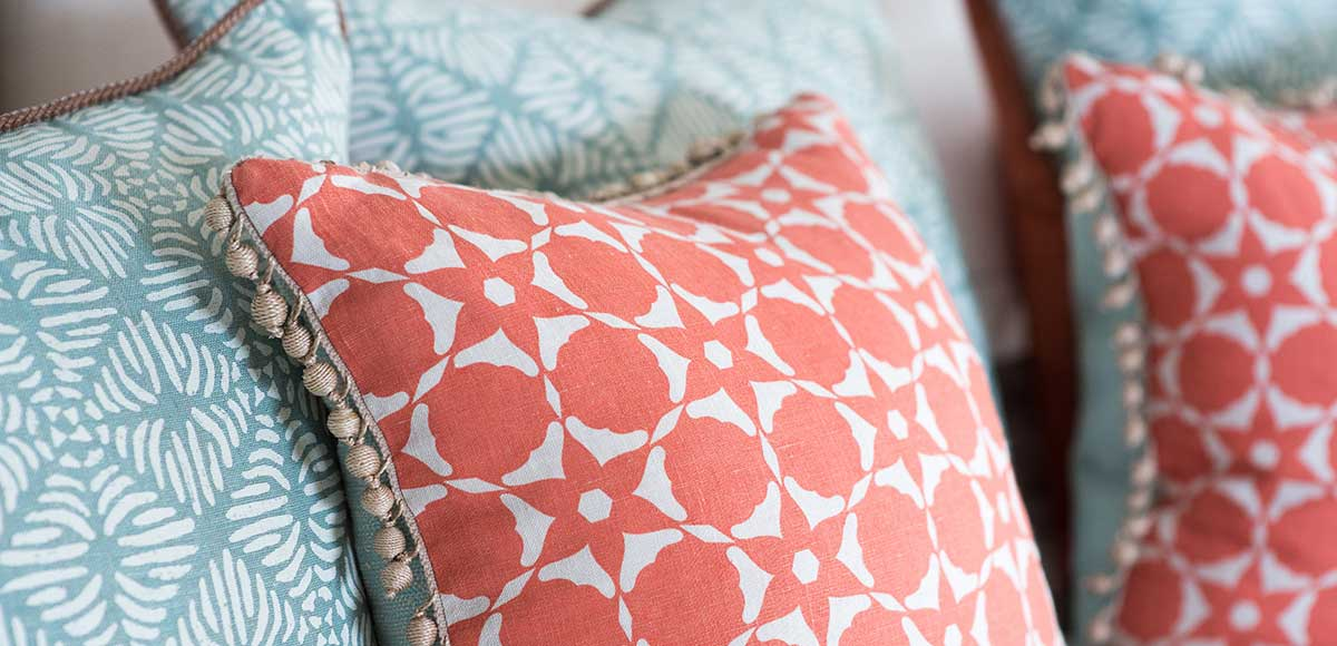Sandpiper bedroom cushions