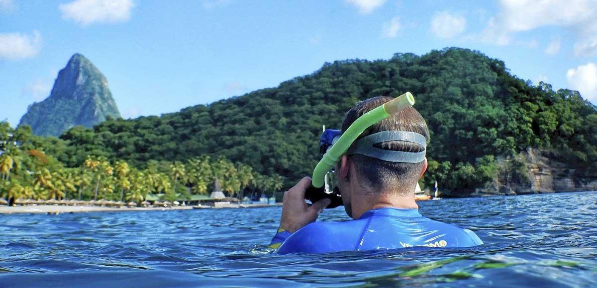 Snorkelling, Anse Chastanet Beach